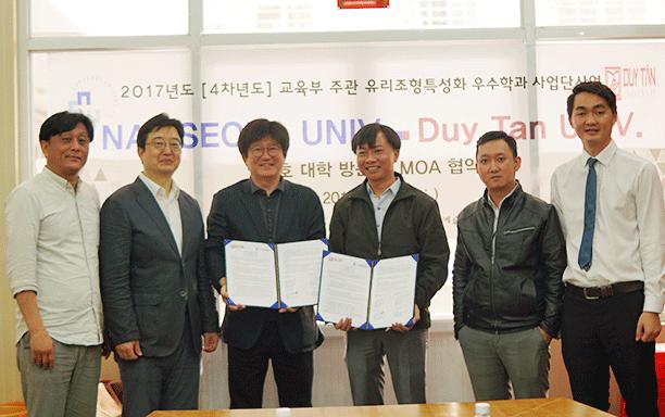 Đại học Duy Tân Ký kết Hợp tác MOA với Đại học Namseoul, Hàn Quốc
