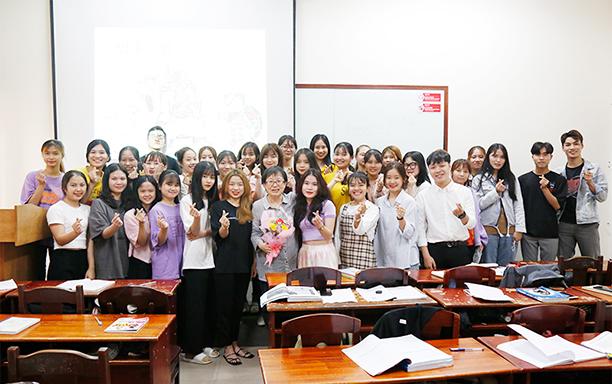 Dr. Kim Zae-hi hopes that DTU will become the Cradle of Korean Language Studies in Danang