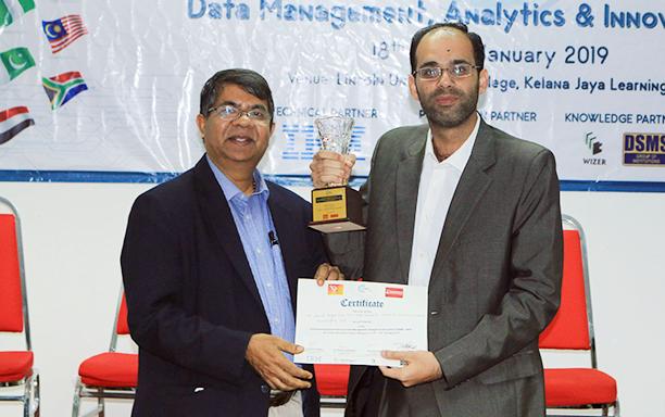 DTU Lecturer Receives Best Paper Award at the International Conference on Data Management, Analytics & Innovation