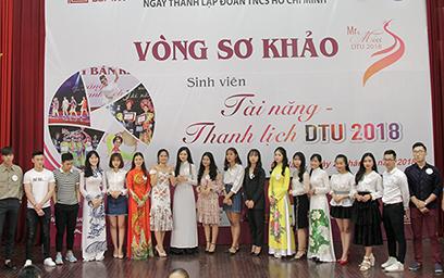 Nam thanh Nữ tú Hội ngộ trong vòng Sơ khảo Cuộc thi Tài năng Thanh lịch DTU 2018