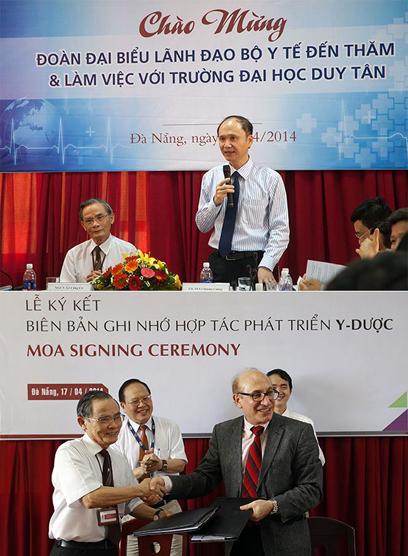 Khối ngành Khoa học Sức khỏe của ĐH Duy Tân được Bộ Y tế quan tâm và nhiều trường đại học uy tín liên kết hợp tác đào tạo