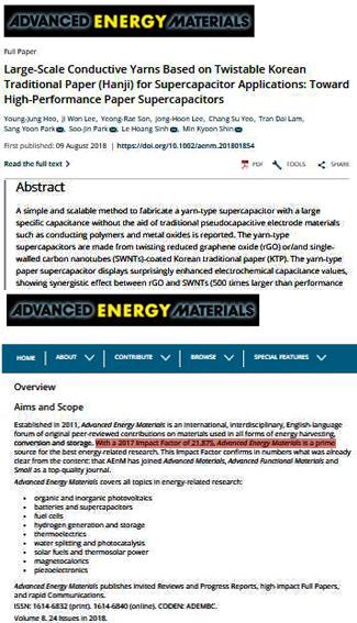 Công b? qu?c t? trên T?p chí Advanced Energy Materials v?i IF = 21.875 c?a TS Lê Hoàng Sinh và d?ng nghi?p