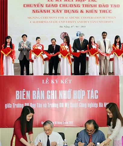 Những hợp tác trong nước và quốc tế mang lại nhiều lợi ích trong học tập cho sinh viên Duy Tân