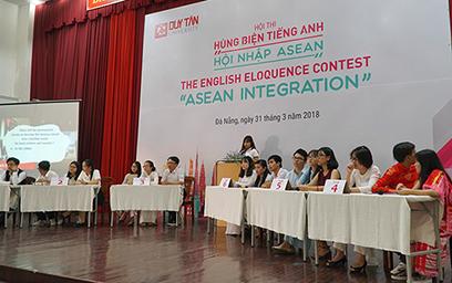 """Học sinh THPT Tranh tài tại Cuộc thi Hùng biện Tiếng Anh """"Hội nhập ASEAN 2018"""""""