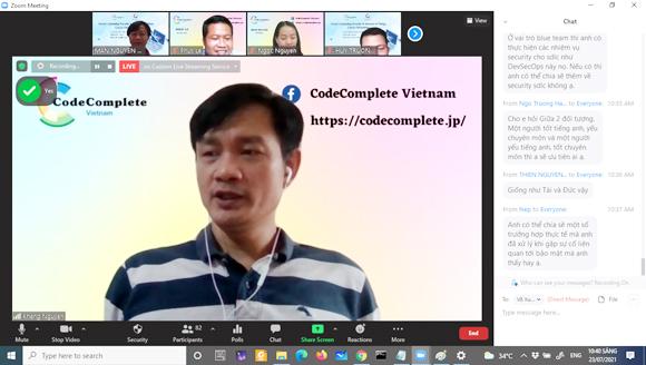 """CodeComplete Vietnam cùng Viện Đào tạo Quốc tế tổ chức Seminar Online về """"Cloud Computing Security & Internet of Things"""""""