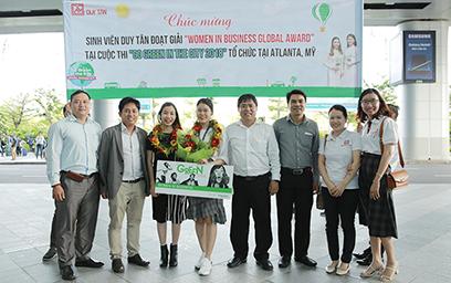 Sinh viên Duy Tân giành giải Women in Business Global Award tại Mỹ