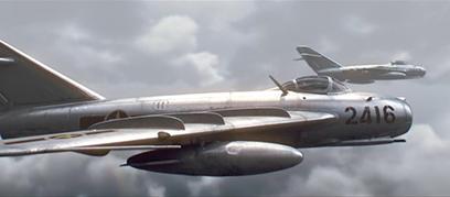 Tạo hình máy bay MiG-17 của Việt Nam bằng đồ họa vi tính. (Ảnh: Silver Swallow Studio)