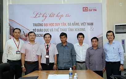 Đại học Duy Tân ký kết hợp tác với Sở Giáo dục và Thể thao tỉnh XeKong, Lào
