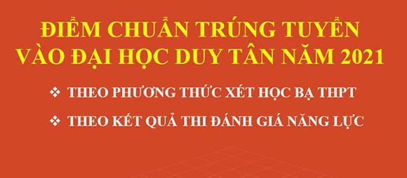 Đại học Duy Tân công bố Điểm chuẩn Trúng tuyển Đại học năm 2021