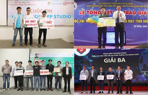 Sinh viên Công nghệ thông tin giành giải cao ở nhiều cuộc thi lớn