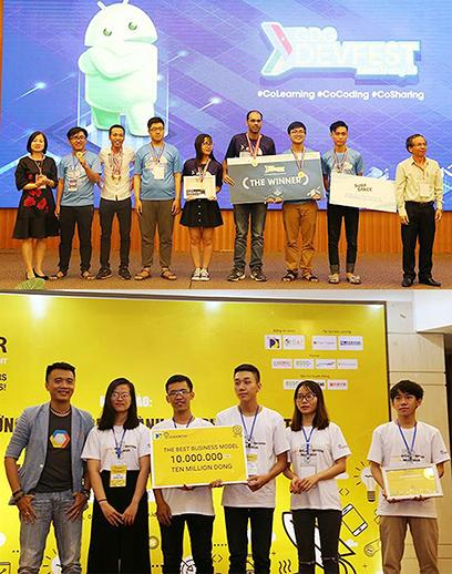 Sinh viên ngành Công nghệ Thông tin của Khoa Đào tạo Quốc tế DTU  giành nhiều giải thưởng lớn trong và ngoài nướ