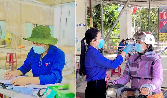 Sinh viên Điều dưỡng Đại học Duy Tân tình nguyện trực chốt kiểm dịch COVID-19