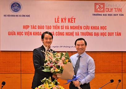 Đại học Duy Tân hợp tác với Học viện Khoa học và Công nghệ Đào tạo Tiến sĩ