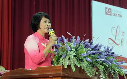 TS Nguyễn Thị Thuận chia sẻ về tâm huyết trong đào tạo ngành Luật tại Lễ Ra mắt Khoa Luật