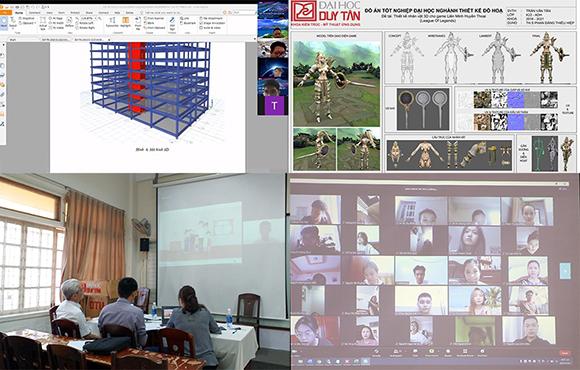 Sinh viên các ngành Công nghệ - Kỹ thuật Học/Thi/Bảo vệ tốt nghiệp trực tuyến thuận lợi và hiệu quả tại ĐH Duy Tân