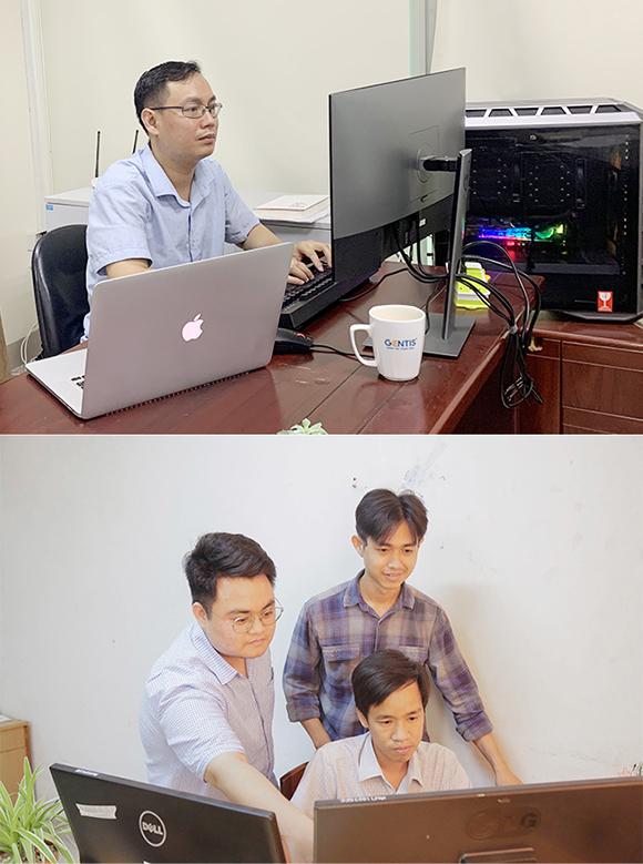 TS Dương Tuấn Linh (ảnh trên) cùng các cán bộ của Trung tâm CSE - ĐH Duy Tân nghiên cứu thử nghiệm ứng dụng