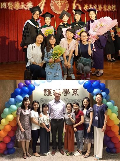 Giảng viên Bé Em nhận giấy chứng nhận hoàn thành khóa học tiếng Trung (ảnh trên) và leo núi cùng các anh chị trong Hội Sinh viên VN (ảnh dưới)