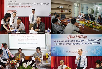 ĐH Duy Tân ký kết với nhiều ĐH Mỹ và cơ quan, đơn vị Y tế Việt Nam để nâng cao chất lượng giảng dạy