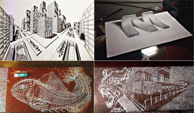 """""""Phát sốt"""" với Kiệt tác Vẽ lên bàn của Tân Sinh viên Đại học Duy Tân"""