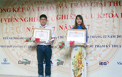 """Sinh viên Duy Tân với Giải thưởng """"Sinh viên Nghiên cứu Khoa học"""" 2017"""