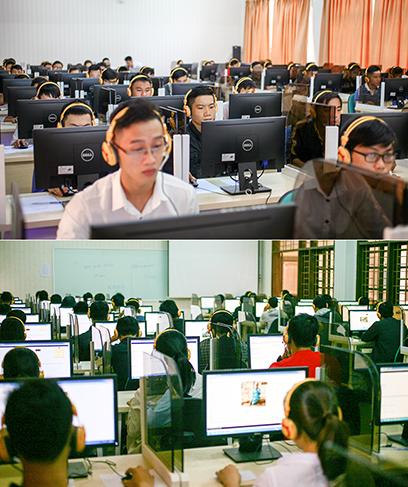 Sinh viên Duy Tân học CNTT trong các phòng máy có cấu hình cao