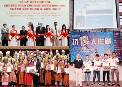 Ký kết với các ĐH Mỹ đã giúp sinh viên Xây dựng DTU đoạt nhiều giải thưởng trong các cuộc thi trong nước và quốc tế