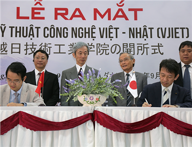 The Vietnam-Japan Institute of Engineering and Technology Founded at DTU