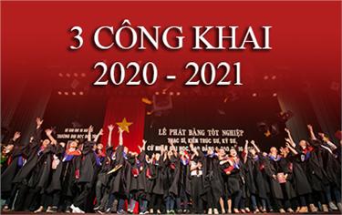 Báo cáo 3 Công Khai Năm học 2020-2021