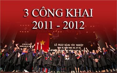 3 Công Khai/Chuẩn Đầu ra năm 2011 - 2012