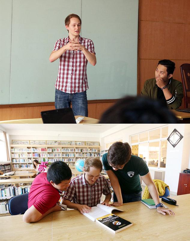 Sinh viên nước ngoài học tại Đại học Duy Tân