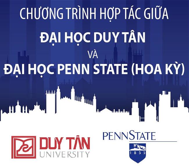 Logo của Đại học Duy Tân và Đại học Bang Pennsylvania - Penn State